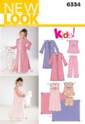 6334 New Look Pattern: Child's Sleepwear